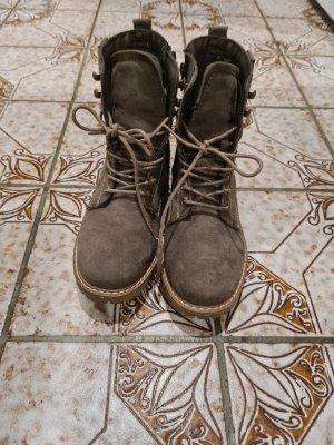 Landrover Patucos con cordones marrón grisáceo