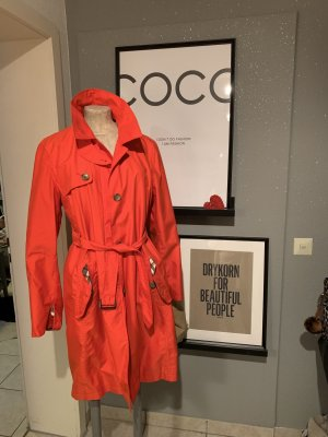 Lands' End Trenchcoat oranje-lichtrood
