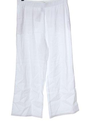 Lands' End Pantalone largo bianco stile casual