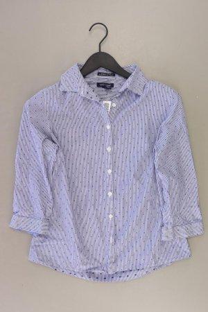Lands' End Bluse Größe 36 gestreift 3/4 Ärmel blau aus Baumwolle