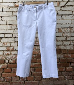 Lands' End Chinohose Sommer Hose 7/8 Länge Straight Fit weiß Gr. 42