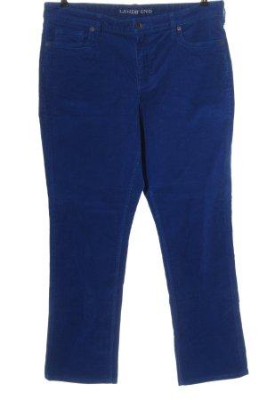 Lands' End Corduroy broek blauw casual uitstraling