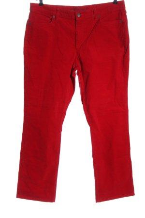 Lands' End Corduroy broek rood casual uitstraling