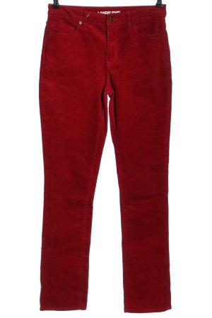 Lands' End Pantalón de pana rojo look casual