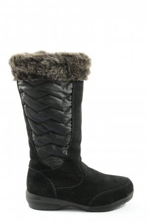 Lands' End Fellstiefel schwarz Casual-Look