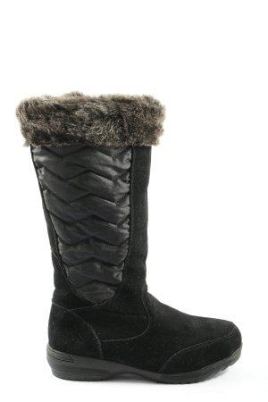 Lands' End Futrzane buty czarny W stylu casual