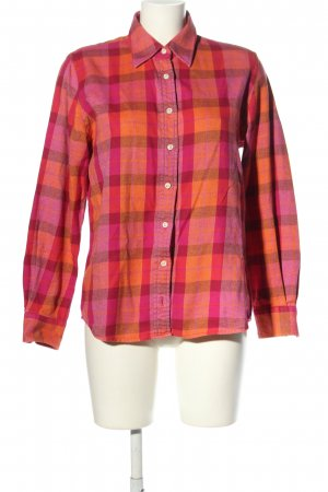 Lands' End Flannel Shirt pink-light orange check pattern casual look