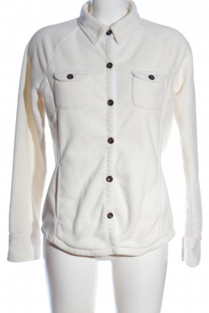 Lands' End Chaqueta de forro polar blanco look casual