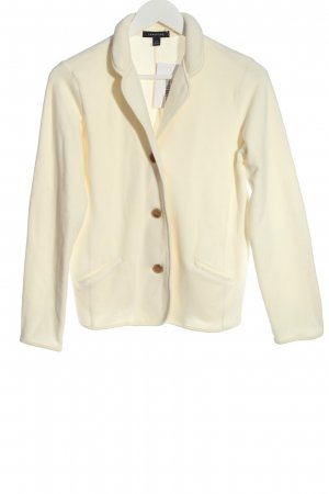Lands' End Giacca in pile bianco sporco stile professionale