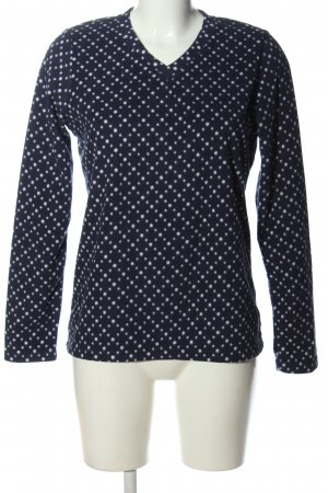 Lands' End Fleece Jumper blue-white spot pattern casual look