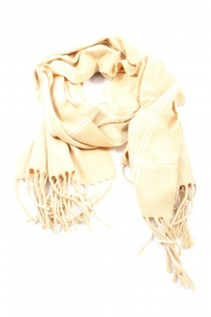 Lands' End Fringed Scarf cream-natural white check pattern casual look