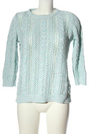 Lands' End Pullover a maglia grossa blu stile casual