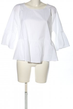 Lands' End Hemdblouse wit casual uitstraling