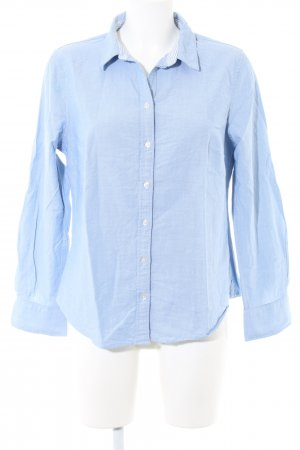Lands' End Hemd-Bluse blau Webmuster Business-Look