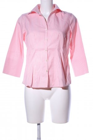 Lands' End Hemd-Bluse pink-weiß Streifenmuster Business-Look