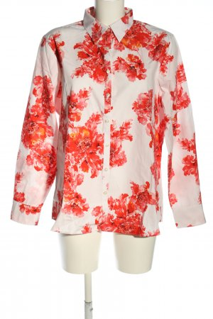 Lands' End Hemd-Bluse weiß-rot Allover-Druck Casual-Look