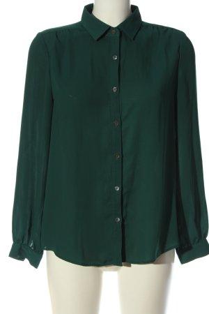 Lands' End Camicia blusa verde stile professionale