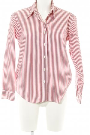Lands' End Hemd-Bluse weiß-rot Streifenmuster Casual-Look