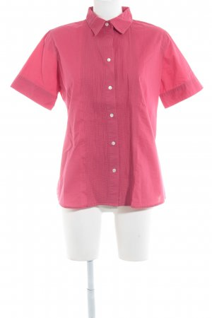 Lands' End Kurzarm-Bluse hellrot Casual-Look