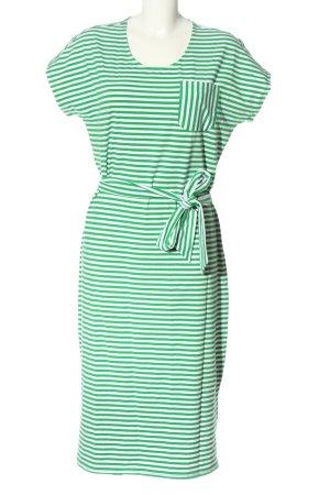 Lands' End Abito a maniche corte verde-bianco stampa integrale stile casual