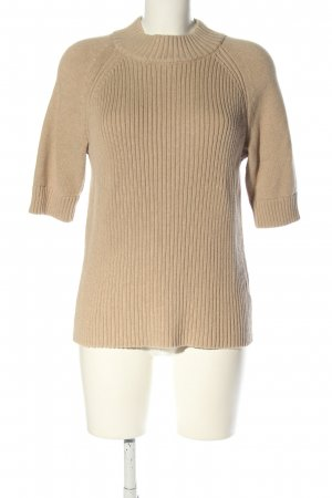 Lands' End Kurzarmpullover wollweiß Casual-Look