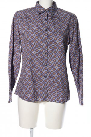 Lands' End Langarm-Bluse Allover-Druck Casual-Look