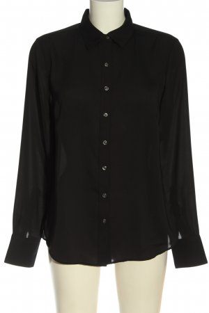Lands' End Camicia a maniche lunghe nero stile professionale