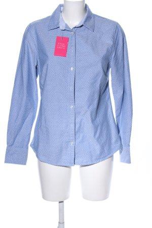 Lands' End Long Sleeve Shirt blue spot pattern casual look