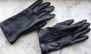 Lands' End Gants en cuir noir