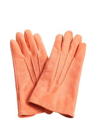 Lands' End Rękawiczki z imitacji skóry jasny pomarańczowy W stylu casual