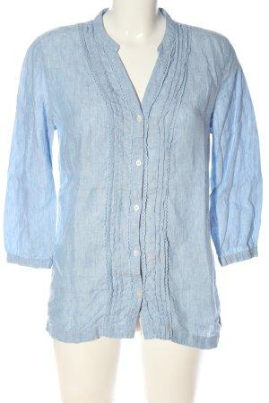 Lands' End Linen Blouse blue casual look