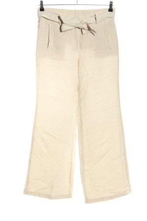 Lands' End Pantalone di lino crema stile casual