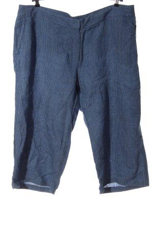 Lands' End Pantalone di lino blu motivo a righe stile casual