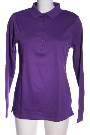 Lands' End Polo-Shirt lila Casual-Look
