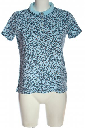 Lands' End Polo-Shirt Allover-Druck Casual-Look