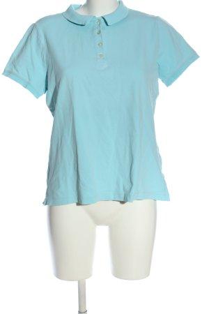 Lands' End Polo-Shirt blau Casual-Look