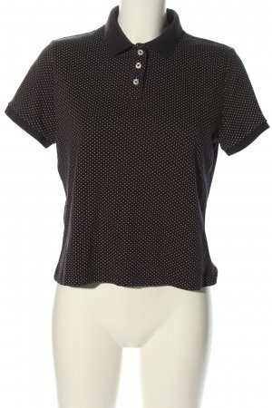 Lands' End Polo Shirt black-white spot pattern casual look