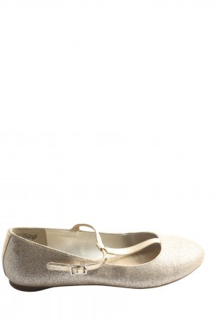 Lands' End Strappy Ballerinas gold-colored casual look