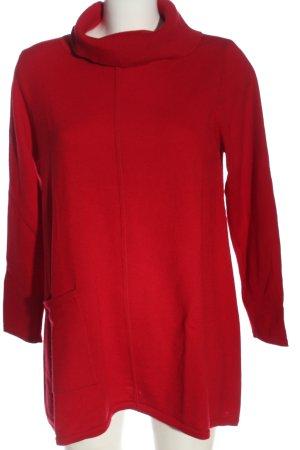 Lands' End Maglione dolcevita rosso stile casual