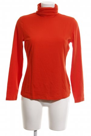 Lands' End Colshirt rood casual uitstraling