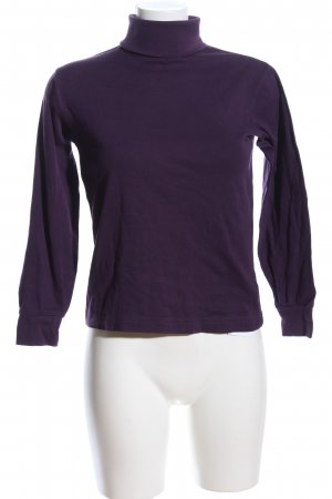 Lands' End Top con colletto arrotolato lilla stile casual