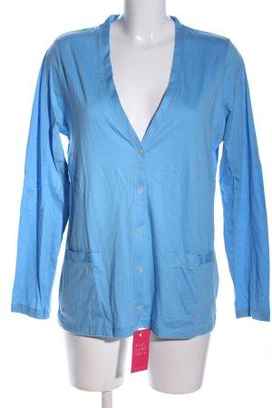 Lands' End Chaqueta estilo camisa azul look casual