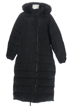 Lands' End Gewatteerde jas zwart quilten patroon casual uitstraling
