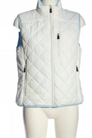Lands' End Chaleco acolchado blanco estampado acolchado look casual