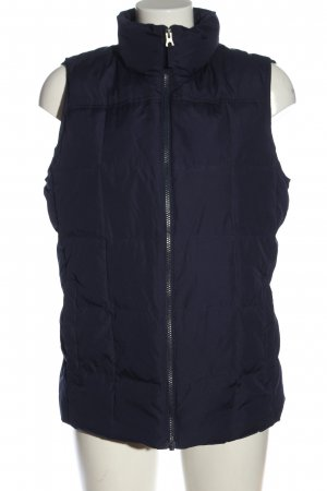 Lands' End Chaleco acolchado azul estampado acolchado look casual