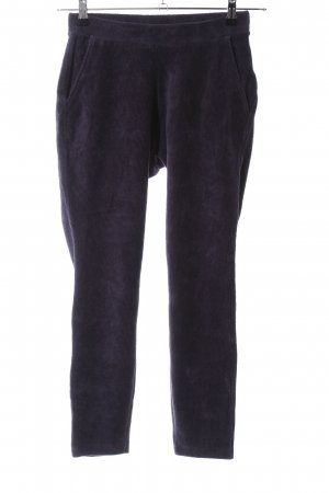 Lands' End Stoffhose lila Streifenmuster Casual-Look