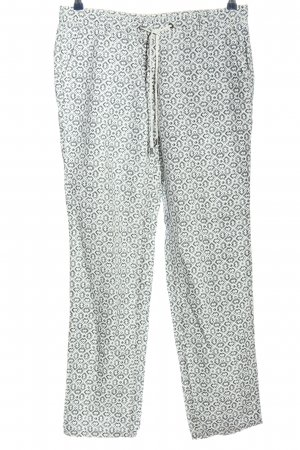 Lands' End Stoffhose weiß-hellgrau grafisches Muster Casual-Look