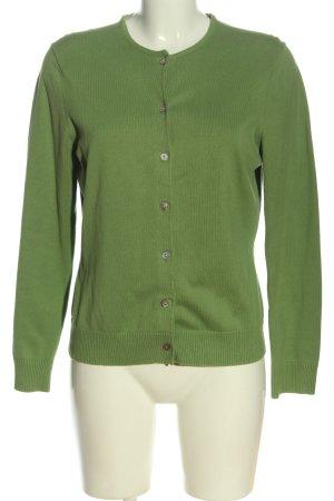 Lands' End Cardigan in maglia verde stile casual