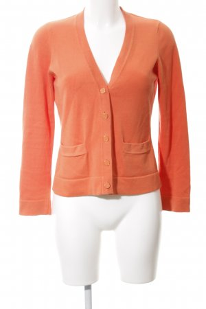 Lands' End Strickjacke hellorange Casual-Look
