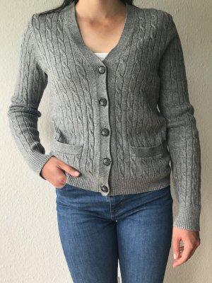 Lands' End Cardigan in maglia grigio Cotone
